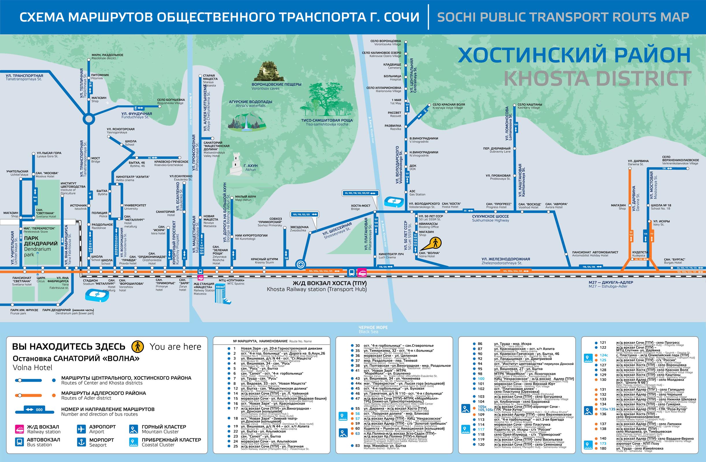 Городской автобусный маршрут № 5; 5а.